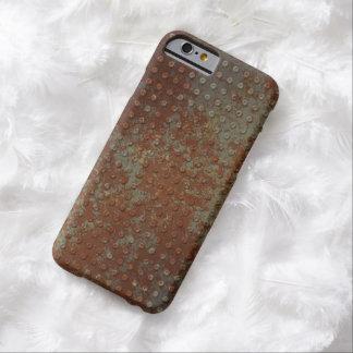 Metal aherrumbrado sucio funda para iPhone 6 barely there
