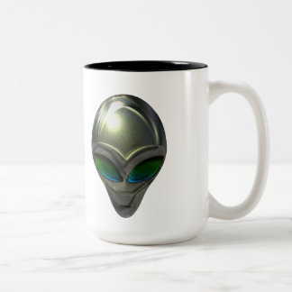 Metal Alien Head 02 Mug