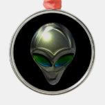 Metal Alien Head 02 Ornament