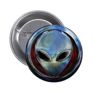 Metal Alien Head 03 Button