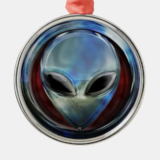Metal Alien Head 03 Ornament