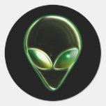 Metal Alien Head 04 Sticker