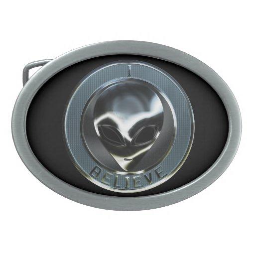 Metal Alien Head 05 Belt Buckle