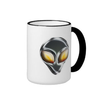 Metal Alien Head Mug