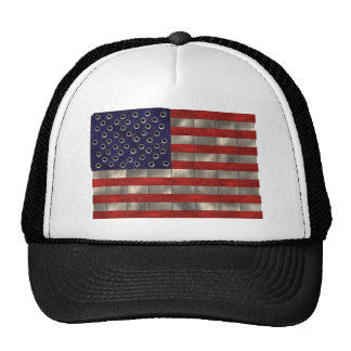 Metal American Flag, Independence Day hat