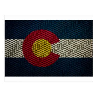 Metal ampliado bandera de Colorado impresionante Tarjeta Postal