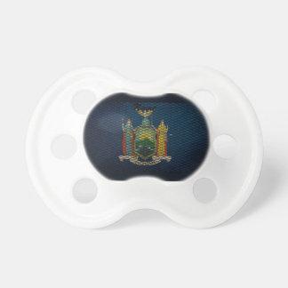 Metal ampliado bandera de Nueva York Chupetes