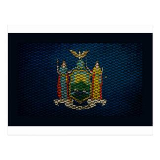 Metal ampliado bandera de Nueva York Postales