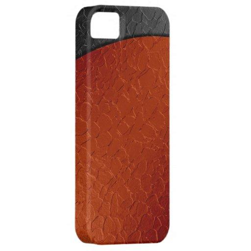 Metal anaranjado y negro 2 del acero inoxidable iPhone 5 carcasa