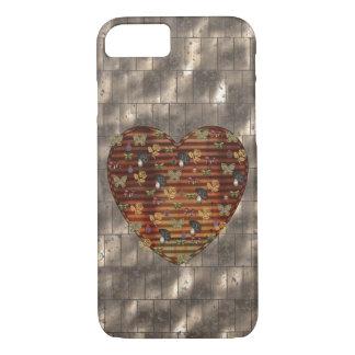 Metal and Black Mushroom Heart iPhone 7 Case
