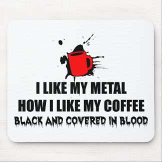 Metal and Coffee Mouse Pad