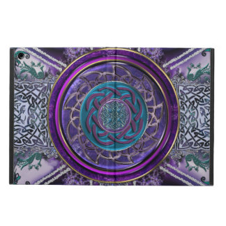 Metal Armored Fractal Tapestry Celtic Knot Mandala Cover For iPad Air