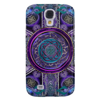 Metal Armored Fractal Tapestry Celtic Knot S4 Case Samsung Galaxy S4 Case