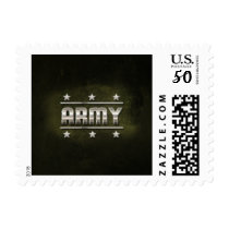 Metal Army Text Postage