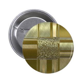 metal art elegance golden 2 inch round button