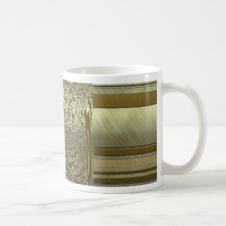 metal art elegance golden coffee mugs