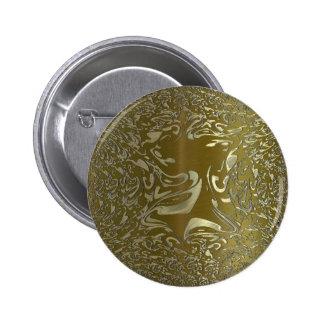 metal art golden 2 inch round button