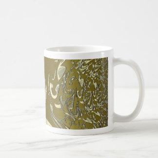 metal art golden coffee mug