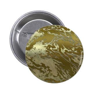 metal art golden swirl 2 inch round button