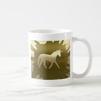 metal art golden unicorn mug
