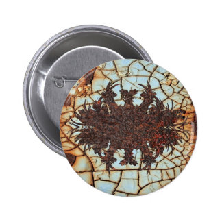 metal art rusty 2 inch round button