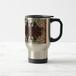 metal art rusty mug