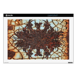 """metal art rusty decal for 17"""" laptop"""