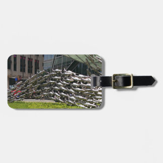 Metal Art Sculpture Luggage Tag