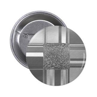 metal art silver 2 inch round button