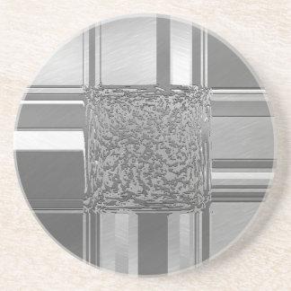 metal art silver beverage coasters
