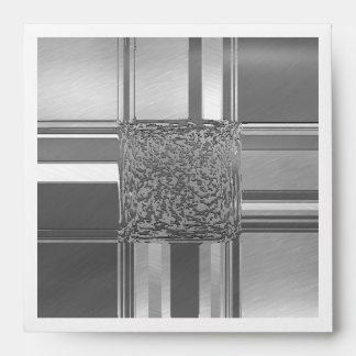 metal art silver envelope