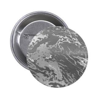 metal art silver swirl 2 inch round button