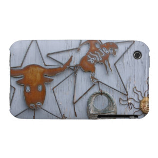 Metal art souvenirs on outdoor wall iPhone 3 cases