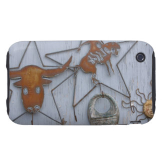 Metal art souvenirs on outdoor wall iPhone 3 tough cases