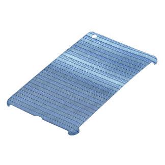 metal art stripes blue iPad mini case