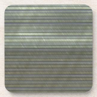 metal art stripes drink coaster