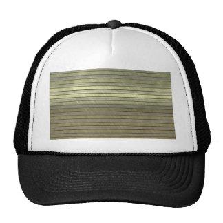 metal art stripes golden hats