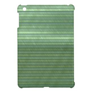 metal art stripes green iPad mini covers