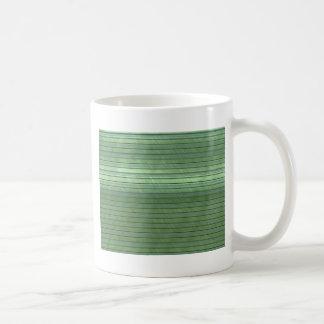 metal art stripes green coffee mugs