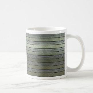 metal art stripes coffee mug