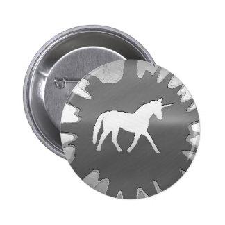 metal art unicon silver 2 inch round button