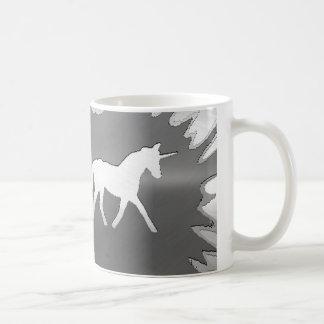 metal art unicon silver coffee mug