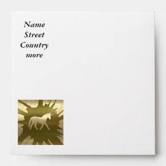 metal art unicorn golden envelopes