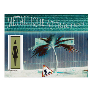 Metal attraction postcard
