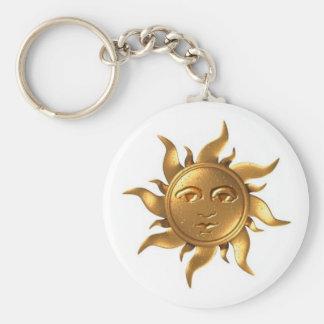 Metal-Aztec-Sun Key Chain
