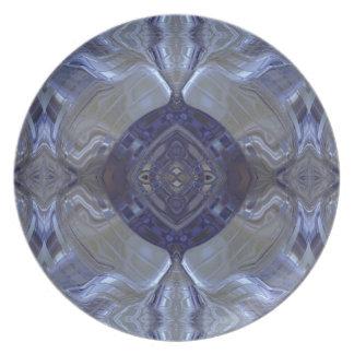 Metal azul marino platos para fiestas