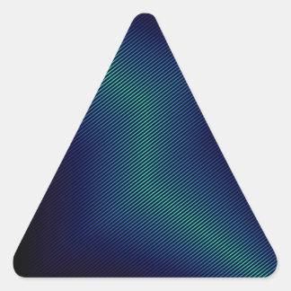 metal azul pegatina triangular