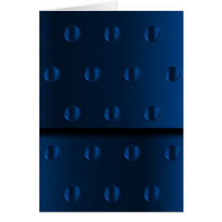 Metal azul tarjeta de felicitación