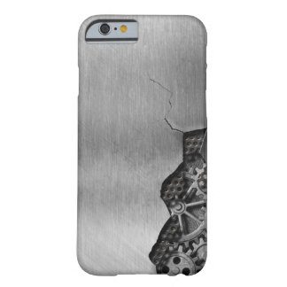 Metal background with mechanical damage barely there iPhone 6 case