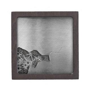 Metal background with mechanical damage keepsake box